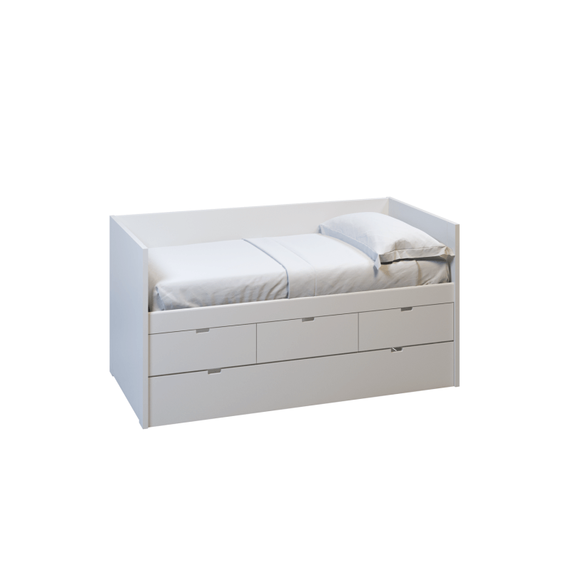 MUBA Bett NIDO Block mit Gästebett und Schubkasten