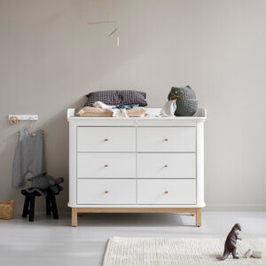 Oliver furniture Wickelkommode Wood Eiche 6 Schubladen 041365
