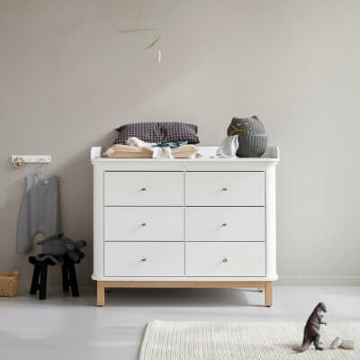 Oliver furniture Wickelkommode Wood Eiche 6 Schubladen 041365