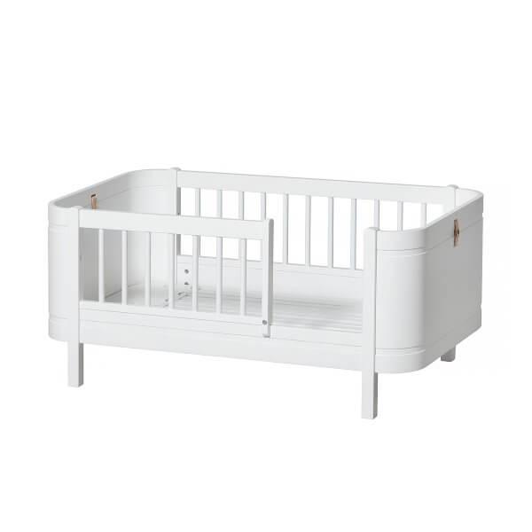 Oliver furniture Kinderbett mini+ weiss Juniorbett mit Fallschutz