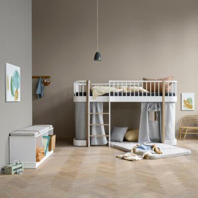 Oliver furniture Wood Bett halbhoch Eiche 041427