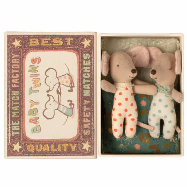 Maileg Twins Babymouse in box - Web