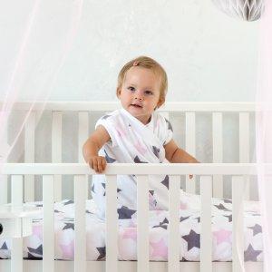 Zewi-Fix-Decke Sterne grau/rosa