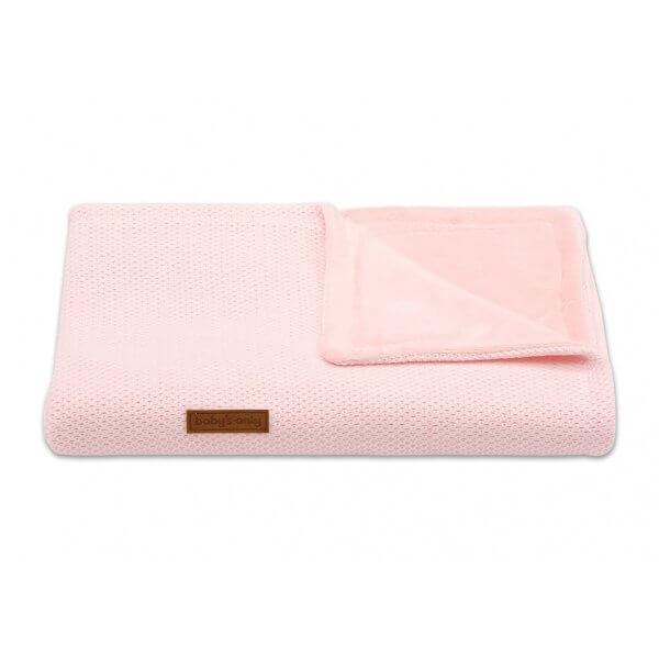 Babydecke klassisch 95 x 70cm klassisch rosa