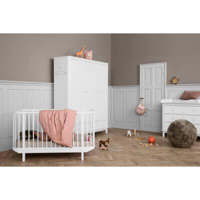 Oliver furniture Kleiderschrank Wood weiss 3-türig