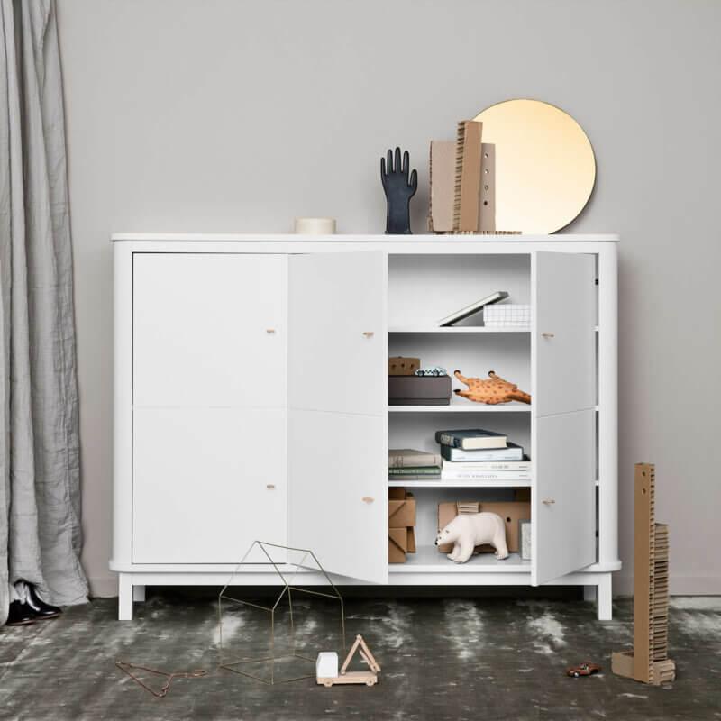 Oliver furniture Multischrank Wood weiss