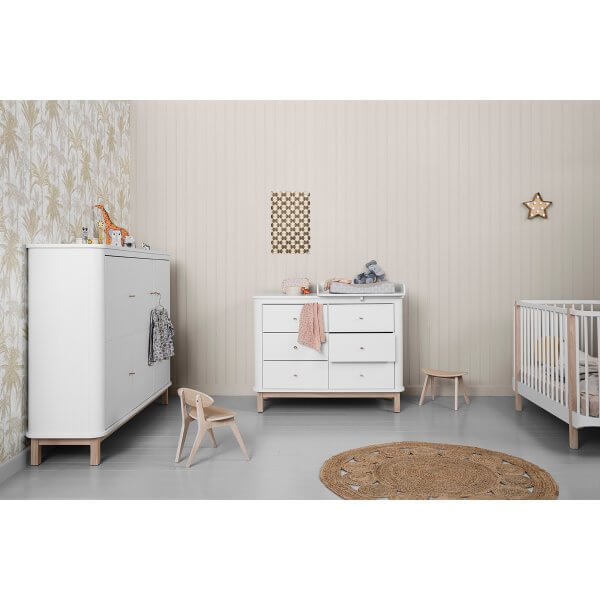 Oliver furniture Wickelkommode WOOD Eiche 6 Schubladen
