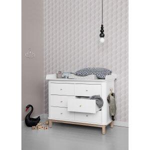 Oliver furniture Wickelkommode WOOD Eiche 6 Schubladen