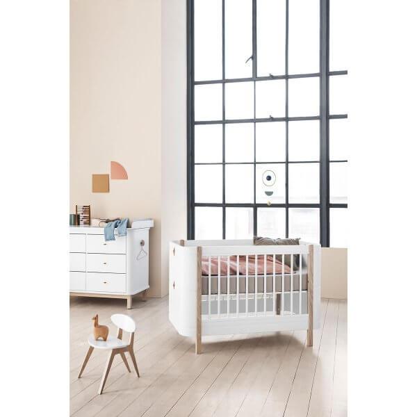 Oliver furniture Kinderbett mini+ weiss/Eiche