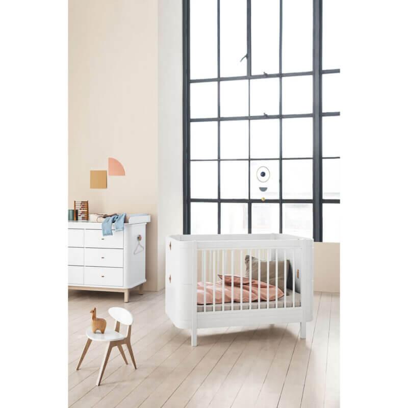 Oliver furnierte Kinderbett mini+ weiss