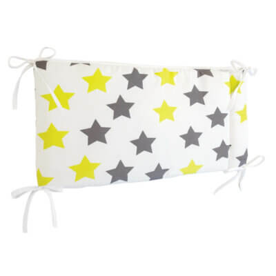 Zewi Bettnestchen Sterne grau/lindgrün