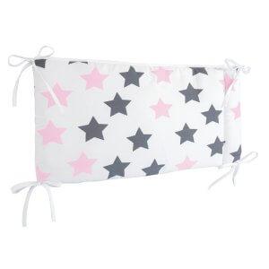 Zewi Bettnestchen Sterne grau/rosa