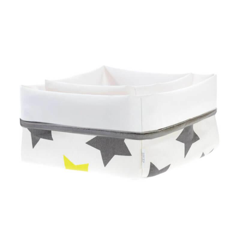 Zewi Pflegekörbchenset Sterne grau/lindgrün