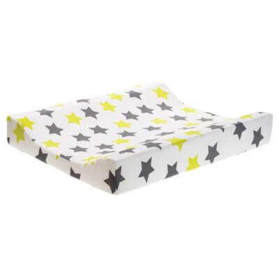 Zewi Wickelkissen Sterne grau/lindgrün