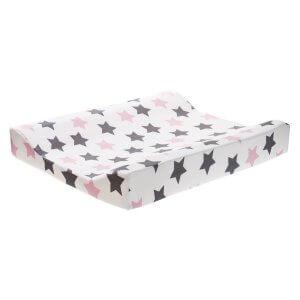 Zewi Wickelkissen Sterne grau/rosa