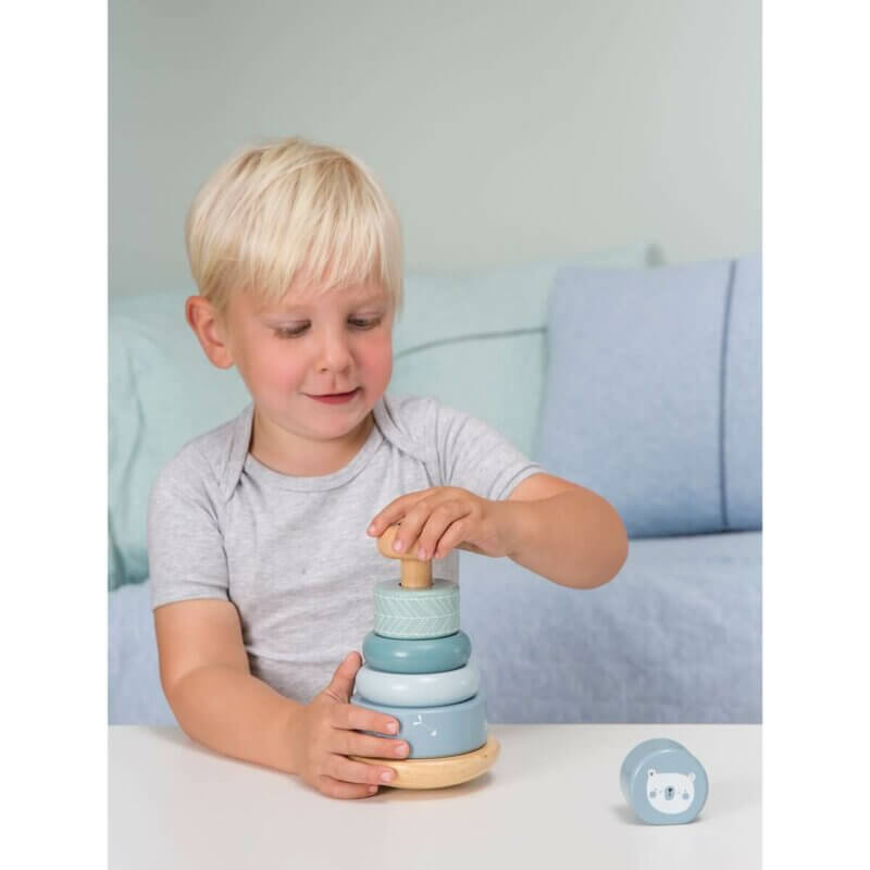 Little Dutch Ring-Stapelturm blau