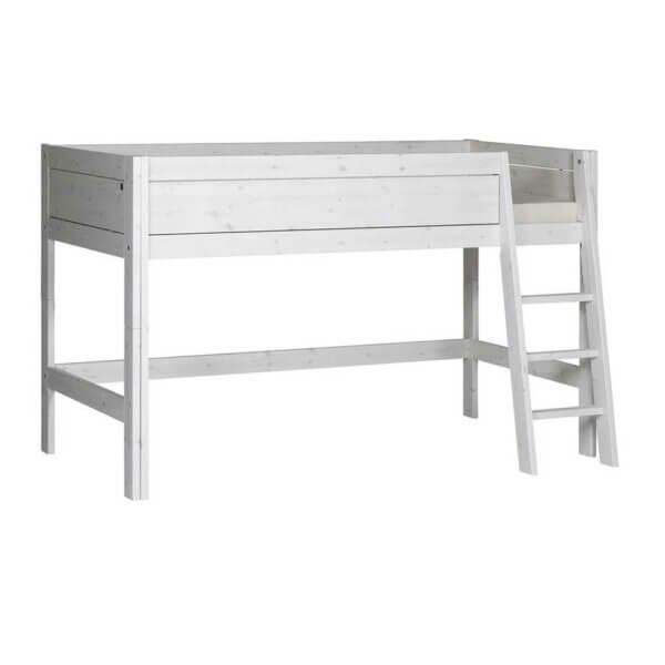 Lifetime halbhohes Bett whitewash schräge Leiter 46252-01W
