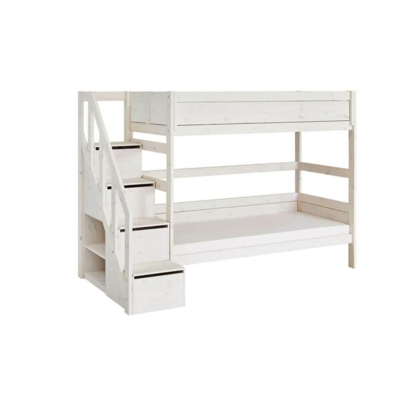 Lifetime Etagenbett mit Treppe whitewash 4930-01W