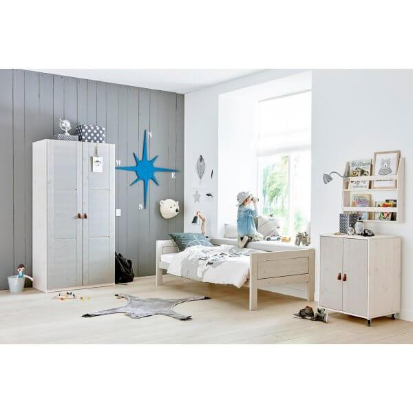 Lifetime Kleiderschrank 2-türig Türen grey wash