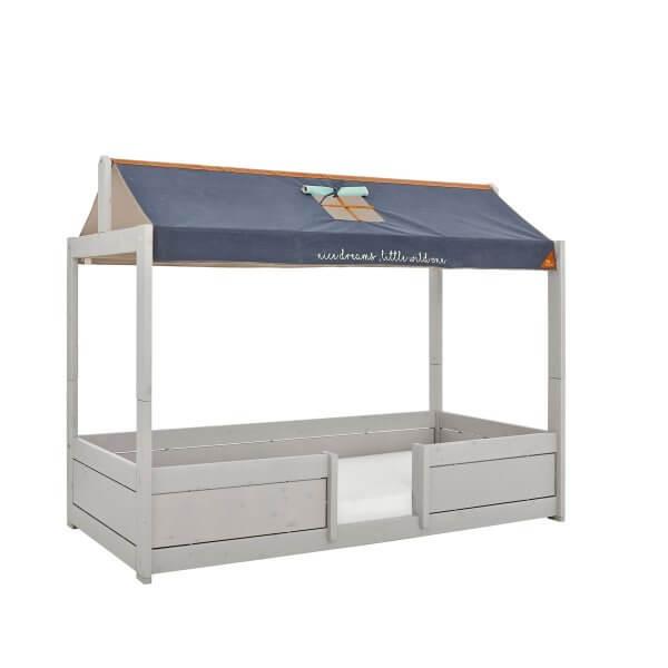 Lifetime 4 in 1 Bett mit Dachkonstruktion und Stoffdach blau