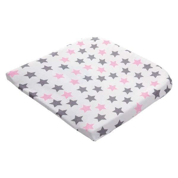 Zewi Wickelüberzug Sterne rosa