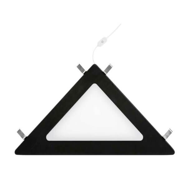 Lifetime Eckablage schwarz mit LED Licht 8129