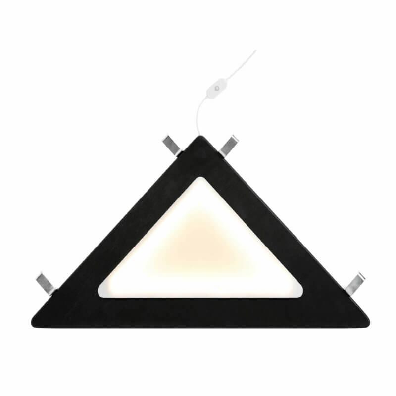 Lifetime Eckablage mit LED Licht schwarz beleuchtet 8129