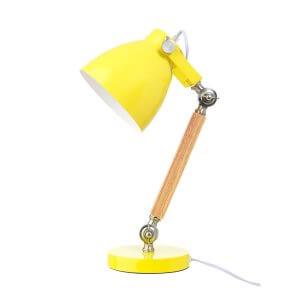 LD Tischleuchte Holz/Metall gelb
