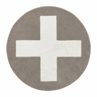 Lifetime Teppich grau X, 3D Handcarving 8458-1