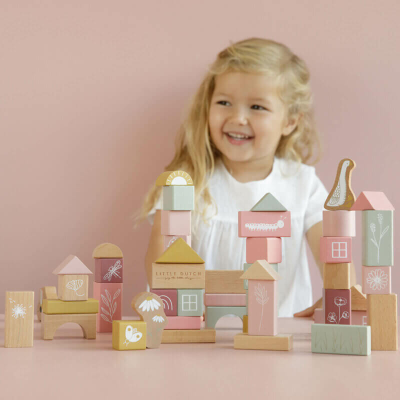 Little Dutch Holzbausteine pink LD7018
