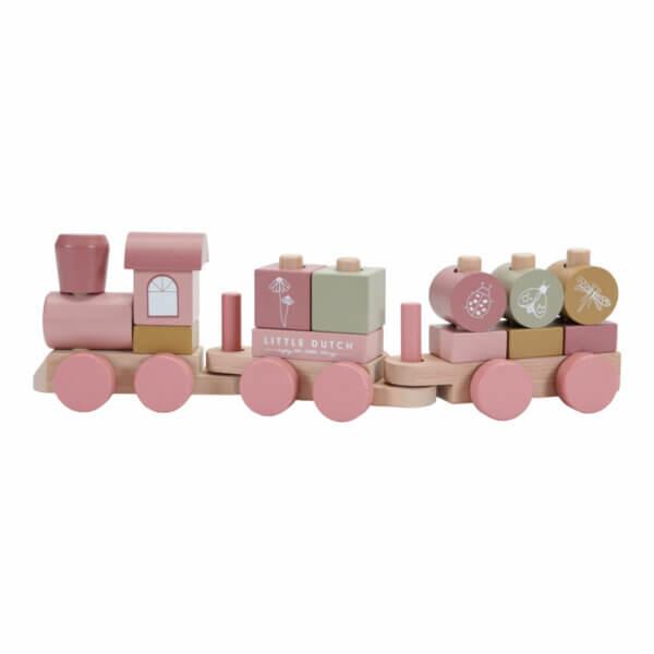 Little Dutch Steck-Eisenbahn rosa LD-7035