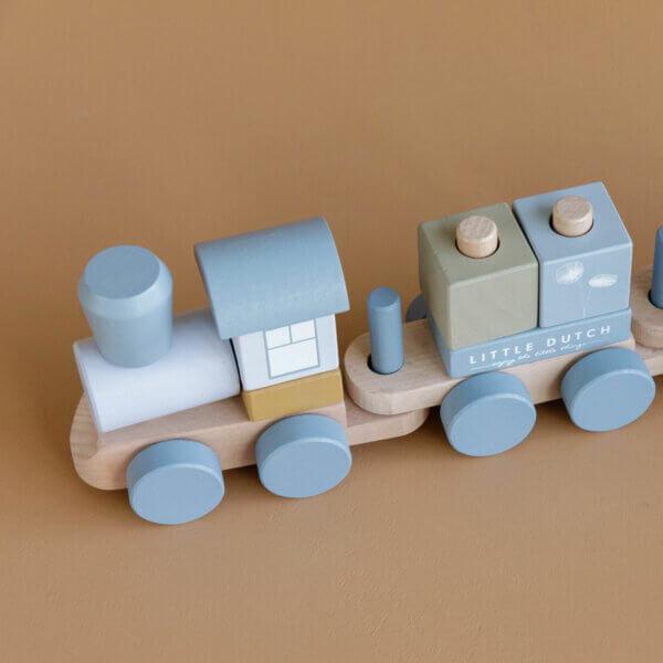 Little Dutch Steck-Eisenbahn blau LD-7036