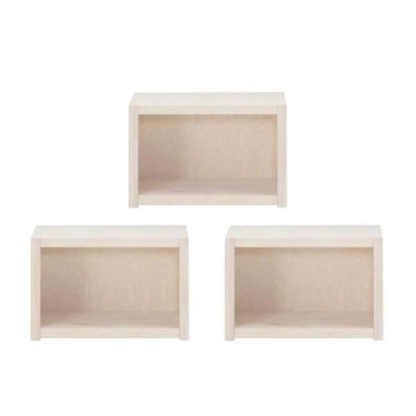 3-er-Set Lifetime kleines Regal whitewash 8005 3-01W