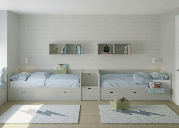 MUBA Jugendbetten mit Treppe und Auszügen