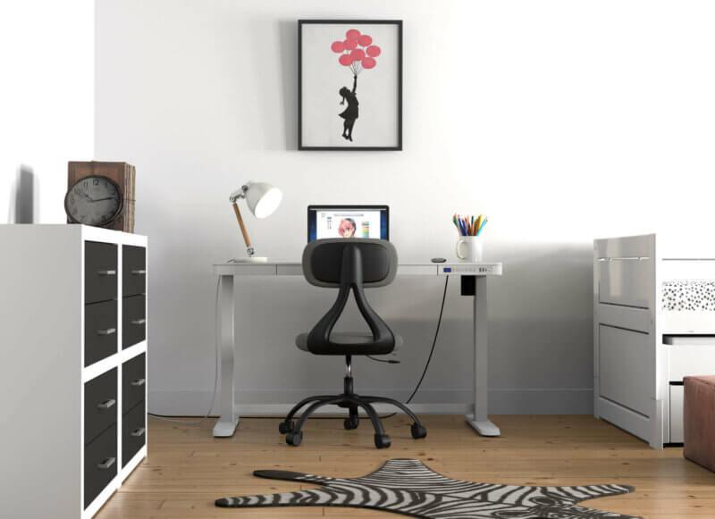 Lifetime Schreibtischstuhl SUNNY und Lifetime Schreibtisch Rise elektrisch verstellbar inkl. Schublade und USB