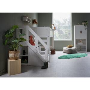 Lifetime halbhohes Bett mit Treppe 4925