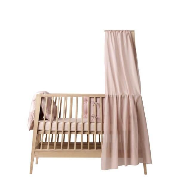 Leander Linea Babybett mit Himmel soft pink