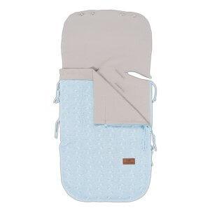 Sommer-Fusssack für Babyschale 0+ Zopf hellblau