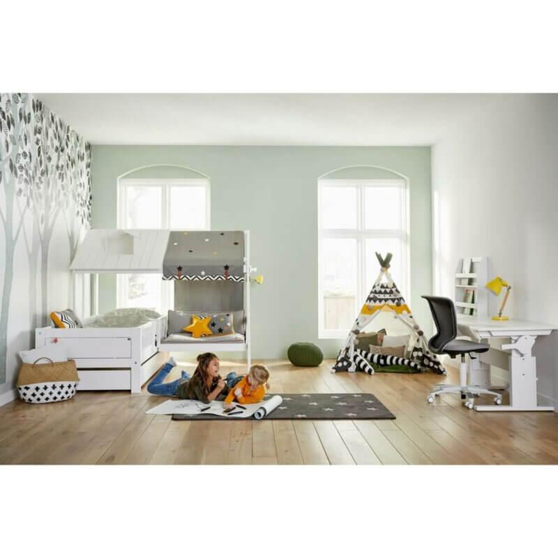 Tischleuchte Holz/Metall gelb