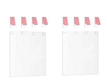 2 kleine Vorhänge mit 2 Schlaufensets-0