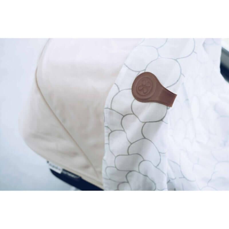 Cloby Magnet Clip braun Leder/Rückseite grau Canvas