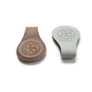 Cloby Set Magnet-Clip braun Leder/Rückseite grau Canvas