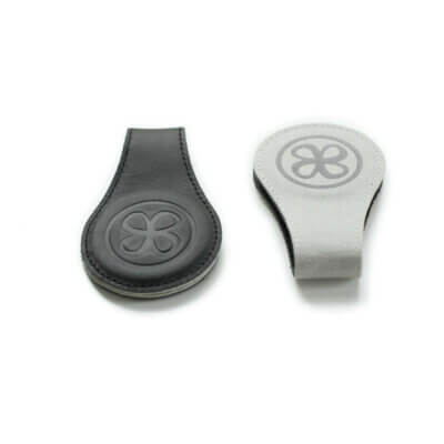Cloby Set Magnet-Clip schwarz Leder/grau Canvas