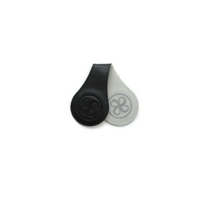 Cloby Magnet-Clip schwarz Leder/grau Canvas