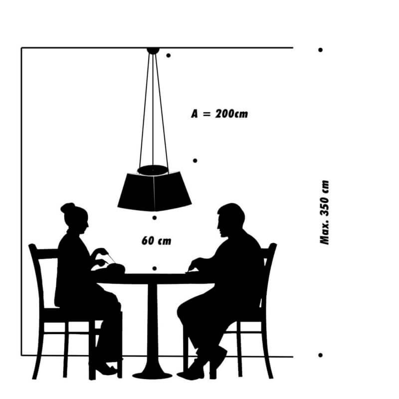 FRAUMAIER Cluster über Tisch Traubenform