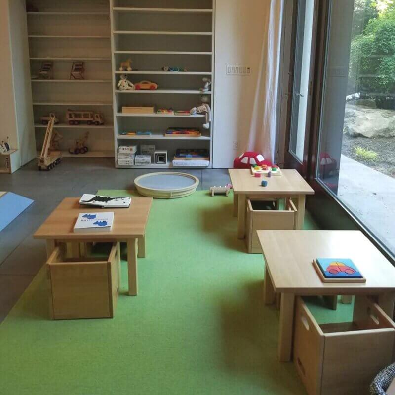 Kindertisch 60x60cm Buche massiv