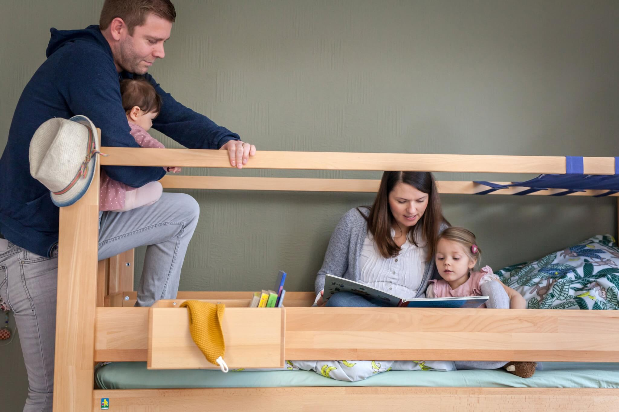 Eltern auf Hochbett von de Breuyn - sehr stabil!