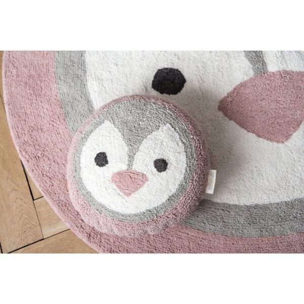 minividuals Teppich Pinguin mit Kissen Pinguin