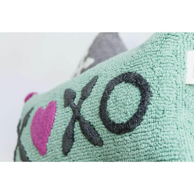 minividuals Kissen XOXO türkis