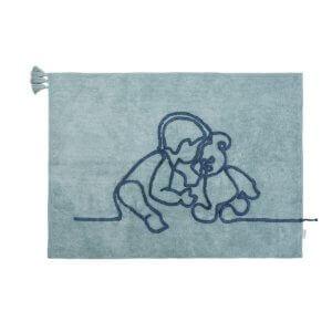 minividuals Teppich Junge mit Teddybär
